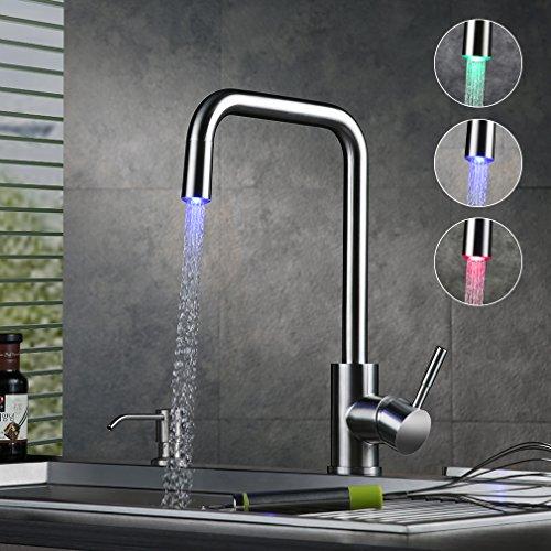 Küchenarmatur mit LED Farbwechsel - Küchenarmaturen