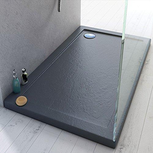 Receveur de douche 70x90x4 cm rectangle acrylique mod. Stone UltraSlim