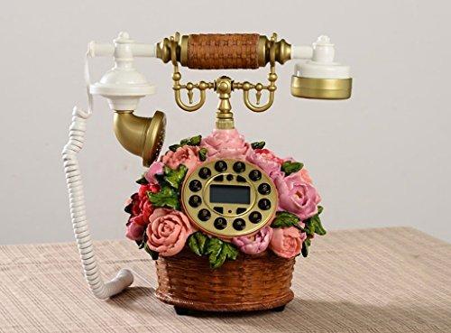 WRE Telefon koreanischen Landschaft antike Telefone cute Retro Mode kreativ Continental Festnetz Körbe drahtgebundenen Telefon (Antik-draht-körbe)