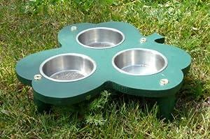 Triple Cloverleaf Ground Feeder - bird feeder/hedgehog feeder