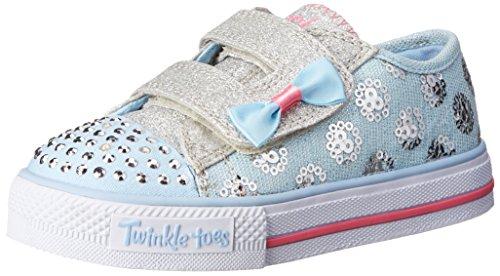 Skechers Sparkle Bunch Girls Canvas Shoes 7 / 24 Light Blue