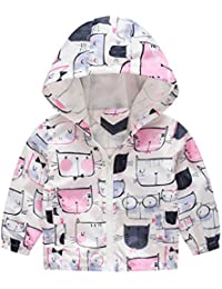 9a1d9f3016be Baby Hooded Jacket Kids Clothes,Toddler Kids Baby Girls Boys Zipper Cartoon  Cat Car Spring Hooded Coat Jacket…