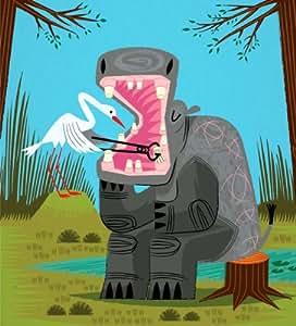 Hippopotamouth - Edition Limitée affiche d'art par Oliver Lake