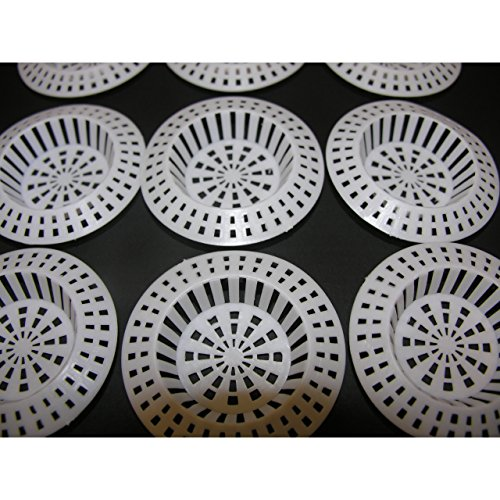 10x Abflusssieb Spülbecken Haarsieb Waschbecken 70mm Ablauf Sieb Kunststoff
