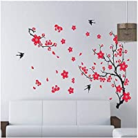Scenery of the Spring Plum flower Wall Sticker Home Decor Removable