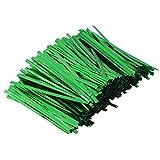 Legami colorati Toyvian Torsoli metallici Twist Ties Caramelle Sacco Lollipop Pacchi Torsione per la festa di compleanno Festa di nozze 800pcs 10cm (verde)