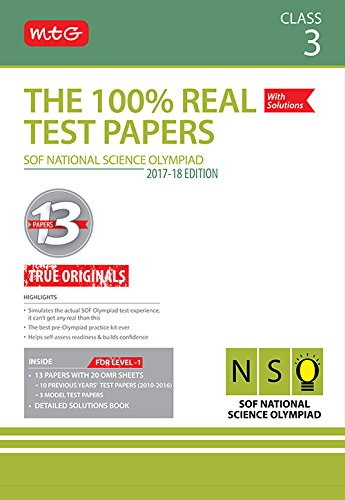 The 100% Real Test Papers (NSO) Class 3