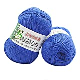 Cooljun Essential Wool Balls - Fil de Coton Bambou - Assorted Colors - Ideal for Any Knitting and Crochet Project 50g (J)