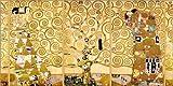 Posterlounge Leinwandbild 100 x 50 cm: Der Lebensbaum (komplett) von Gustav Klimt - fertiges Wandbild, Bild auf Keilrahmen, Fertigbild auf echter Leinwand, Leinwanddruck