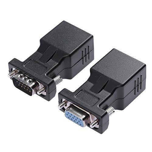 asiproper 1Paar VGA Extender weiblich/männlich auf CAT5CAT5e RJ45Ethernet weiblich Adapter