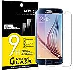 Verre Trempé Samsung Galaxy S6, NEWC® Film Protection en Verre trempé écran Protecteur vitre ANTI RAYURES SANS BULLES D'AIR Ultra Résistant Dureté 9H Protector pour Samsung Galaxy S6