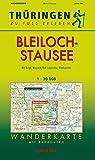 Wanderkarte Bleilochstausee: Maßstab 1:30.000 (Thüringen zu Fuß erleben)