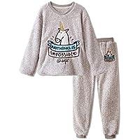 DUKUNKUN Otoño E Invierno Pijamas De Mujer Pálido Dulce Estampado De Dibujos Animados Pijamas De Ropa Informal,M