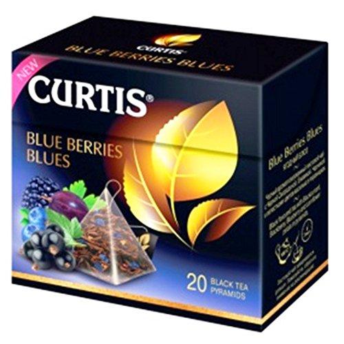 Curtis schwarzer Tee Blue Berries Blues 20 Pyramidenbeutel Pyramid Tee
