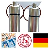 2x Geocaching Versteck Nano | Pillendose Pillencontainer | Alu Container Micro | Cache silber | 4,5 x 1,3 cm - molinoRC® BRD