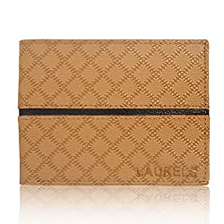 Laurels Faux Leather Tan Cross and Mens Wallet