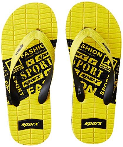 Sparx Men's Yellow and Black Flip Flops Thong Sandals - 7 UK/India (40.67 EU)(SF2045GYLBK)