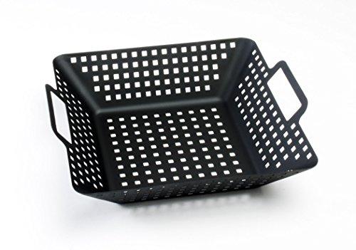 Charcoal Companion Grosser Grill Wok, antihaft, quadratisch, schwarz, 28.58 x 31.19 x 8.99 cm, CC3114