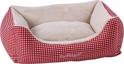 Knuffelwuff 13100 Kuschel Hundebett Lina Karo – Größe XL, 105 x 75 cm, rot - 4