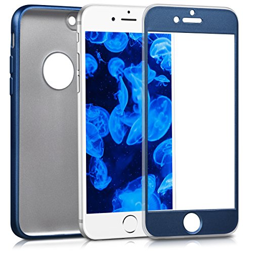 kwmobile Hülle für Apple iPhone 6 / 6S - Backcover Case Handy Schutzhülle TPU Silikon - Back Cover Metallic Rosegold .Metallic Blau