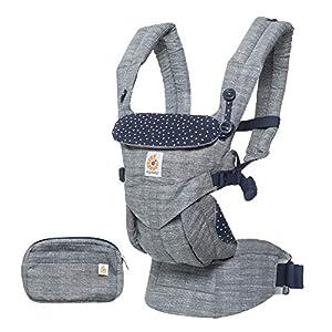 ERGObaby Baby Carrier for Newborn to Toddler, 4-Position Omni 360 Star Dust, Ergonomic Child Carrier Backpack   5