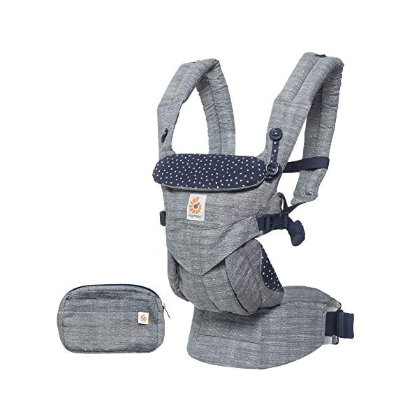 ERGObaby Baby Carrier for Newborn to Toddler, 4-Position Omni 360 Star Dust, Ergonomic Child Carrier Backpack Ergobaby Baby carrier with 4 ergonomic wearing positions: parent facing, on the back, on the hips and on the front facing outwards. Adapts to baby's growth: Infant baby carrier newborn to toddler (7-33 lbs./ 3.2 to 20 kg), no infant insert needed. Tuck-away baby hood for sun protection (UPF 50+) and privacy. NEW - Maximum comfort for parent: Longwear comfort with lumbar support waistbelt and extra cushioned shoulder straps. 1