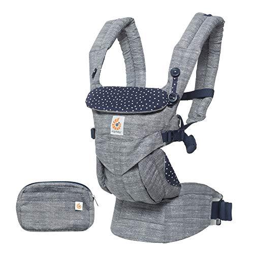 Ergobaby Babytrage für Neugeborene, Kollektion Omni 4-Positionen Baby-Tragetasche und Kindertrage, 3.2 bis 20kg