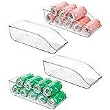 mDesign 4er-Set Dosenhalter für Kühlschrank und Küchenschrank - ideale Lebensmittel Aufbewahrungsbox für je neun Dosen - praktischer Kühlschrank Organizer - durchsichtig