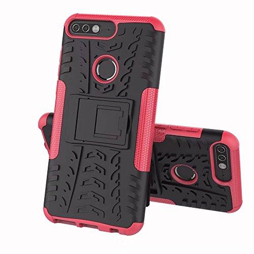 c12307fadc1 BCIT Huawei Y7 Prime 2018 Cover Escabroso Durable Estuche Protector TPU/PC  Funda Carcasa Case