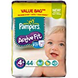 Pampers - 81371230 - Active Fit Couches - Taille 4 + Maxi + - 9-20 kg - Format Economique x 44 Couches