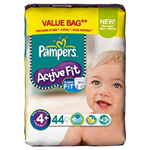 Pampers - 81371230 - Active Fit Couches - Taille 4+ Maxi+ - 9-20 kg - Format Economique x 44 Couches