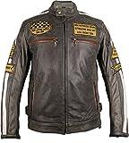 Veste moto cuir rétro pour homme