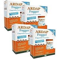 4 x 2 x 100ml Ardap Fogger Doppelpack Ungeziefer Vernebler für 8 Räume je 30 m²