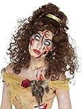 Smiffys 47016 Déguisement Femme, Perruque Princesse Dorée Zombie Os Brown