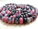 AAA natürlich Rhodochrosit Uni Rondelle Perlen, natur Rhodochrosit Rondelle, 6–7mm Perlen, 12,7cm Strand, Rhodochrosit Halskette Perlen