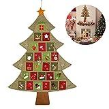 SSITG 25 Taschen Adventskalender Weihnachtskalender zum Befüllen Weihnachtsbaum(Lieferzeit ist 3-7 Tagen)