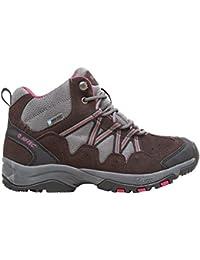 Gris Y Marrón Hi-Tec Womens Florencia Mediados Andando Botas Calzado De Zapatos Al Aire Libre, Gris, 40