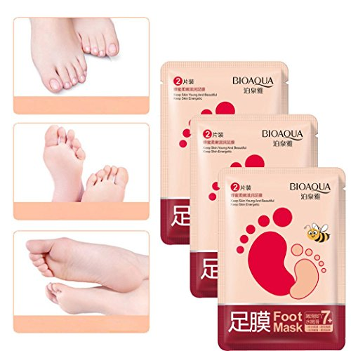 Tefamore Exfoliant Peel Off Foot Mask Baby Pied doux Supprimer Callus Hard Dead Skin (3 PC)