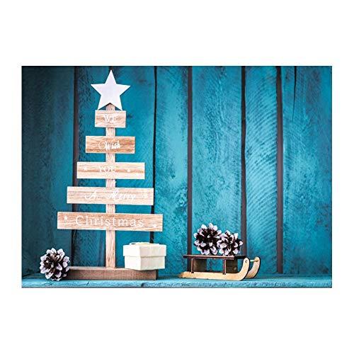 Matefield Fotohintergrund, 0,9 x 1,5 m, Weihnachtsbaum, Glocke, Strumpf, Schnee, Nacht, Hintergrundstoff aus Stoff, Familie, Hochformat, Fotohintergrund für Studio, Fotoshooting, Heimdekoration (Familie Strümpfe Weihnachten)