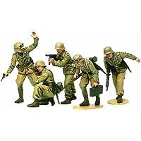 Tamiya 300035314 - Figuritas de soldados alemanes en África a escala 1:35, Segunda Guerra Mundial
