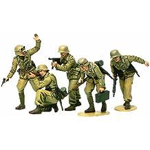 Tamiya 300035314 - Figuritas de soldados alemanes en África a escala 1:35, Segunda
