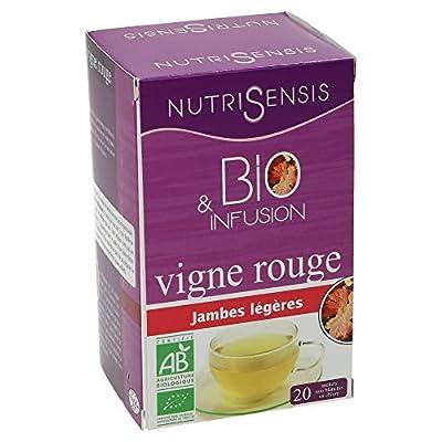 NutriSensis Vigne Rouge Jambes Légères Infusions 20 Sachets 20 g - Lot de 3