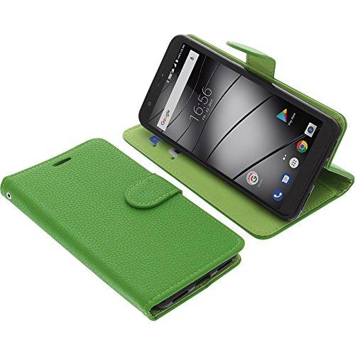 foto-kontor Tasche für Gigaset GS370 / GS370 Plus Book Style grün Schutz Hülle Buch