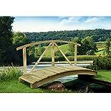 Gartenpirat Gartenteichbrücke mit Handlauf