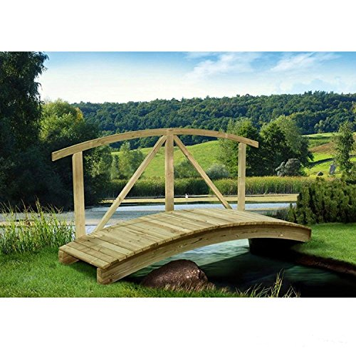 Gartenteichbrücke mit Handlauf von Gartenpirat®