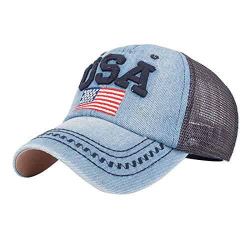 Nuovi Arrivi ! WUDUBE Berretto da Golf da Baseball moda unisex ricami bandiera americana maglie respirabile regolabile snapback hip hop a cappello