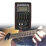 5-Band EQ Pre-Amp Equalizer Tonabnehmer, Vorverstärker-Tuner mit LCD-Tuner und Lautstärkeregler für Akustikgitarren Komplett-Kit