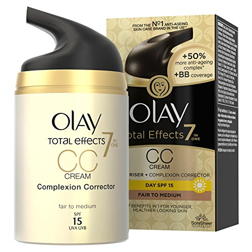 Olay SPF 15 Total Effects CC Cream Complexion Corrector for Women, Fair to Medium, 1.7 Ounce