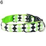 ALCYONEUS Verstellbar LED Nylon Hundehalsband Nachtzeit Sicherheit Leuchtend Kragen (L, grün / green)