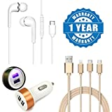 Captcha Samsung Galaxy S8 Plus Compatible Letv Earphone Super Sound Wired Headset With 3 In 1 USB Charging Cable With 8 Pin Lightning, USB Type C, Micro USB And Dual Car Charger (One Year Warranty)